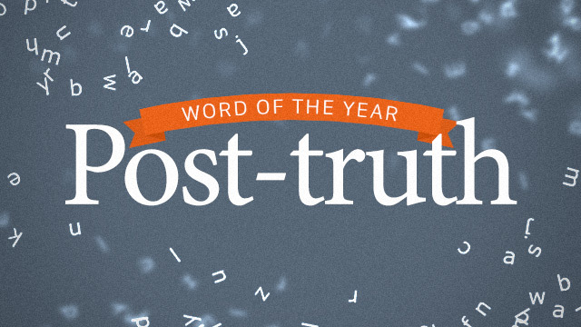 Post-truth, word of the year